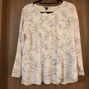 ANN TAYLOR cream/off white blouse